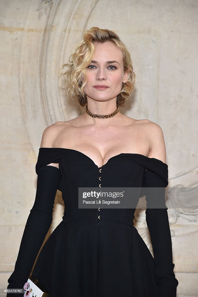 Diane Kruger attends the Christian Dior Haute Couture Spring Summer 2017 show as part of Paris Fashion Week on January 23, 2017 in Paris, France.