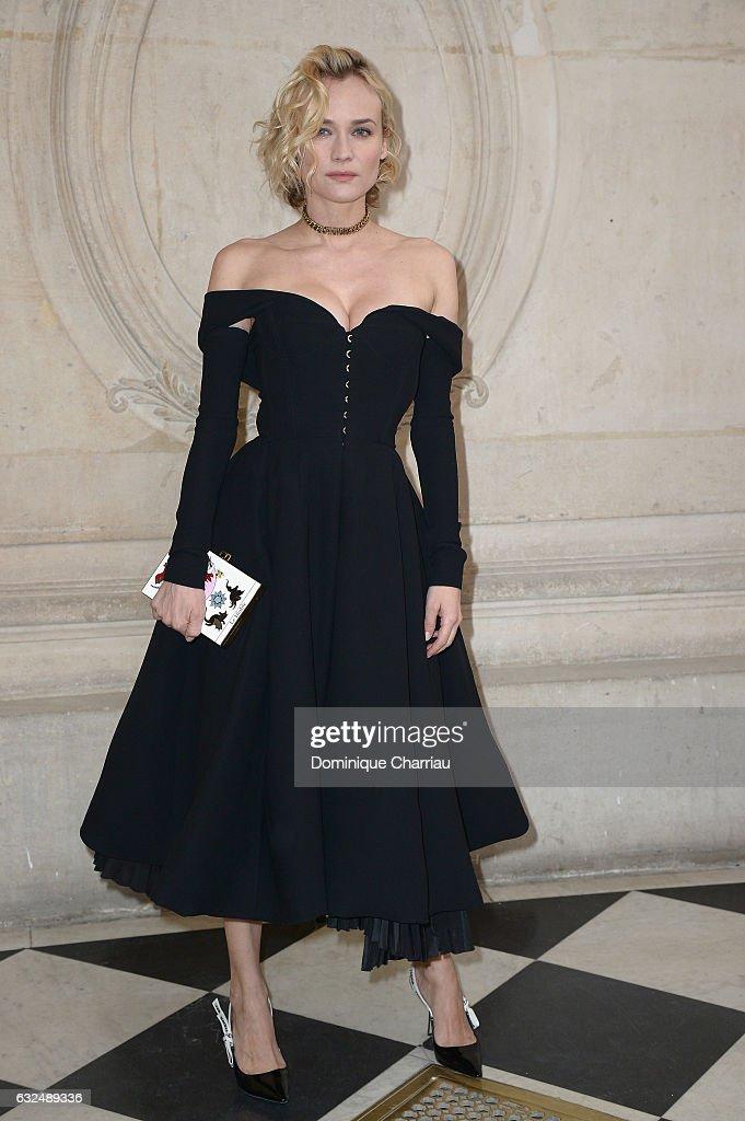 Christian Dior : Front Row - Paris Fashion Week - Haute Couture Spring Summer 2017 : News Photo