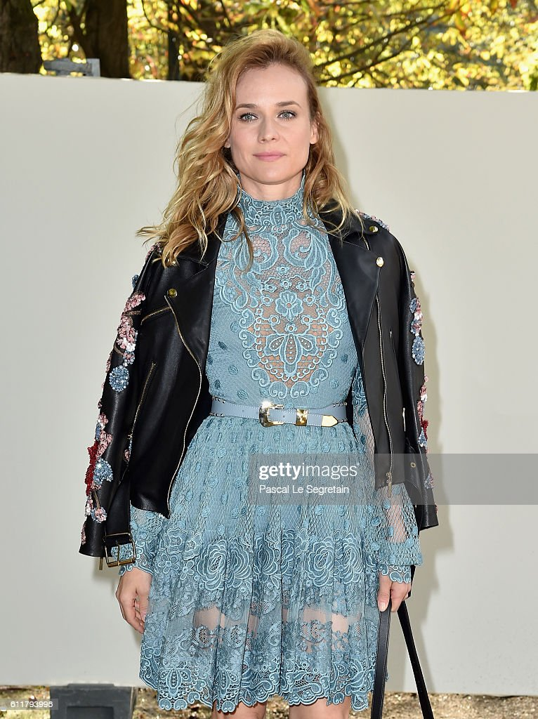 Diane Kruger attends the Elie Saab show as part of the Paris Fashion Week Womenswear Spring/Summer 2017 on October 1, 2016 in Paris, France.