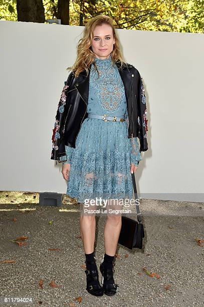 Diane Kruger attends the Elie Saab show as part of the Paris Fashion Week Womenswear Spring/Summer 2017 on October 1 2016 in Paris France