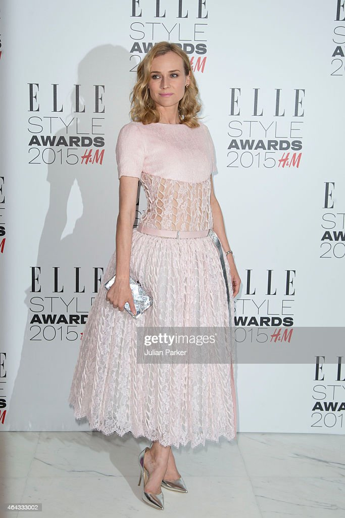 Diane Kruger attends the Elle Style Awards 2015 at Sky Garden @ The Walkie Talkie Tower on February 24, 2015 in London, England.