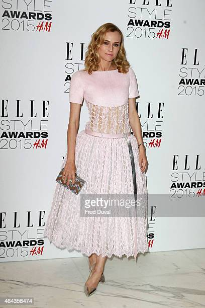Diane Kruger attends the ELLE Style Awards at Sky Garden 20 Fenchurch Street EC3M 3BY on February 24 2015 in London England