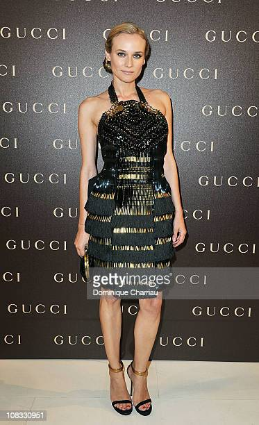 Diane Kruger attends the Gucci InStore Cocktail as part of Paris Fashion Week Haute Couture Spring/Summer 2011 on January 25 2011 in Paris France