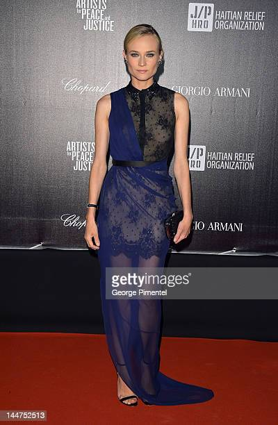 Diane Kruger attends the Haiti Carnival In Cannes Benefitting J/P HRO Artists For Peace and Justice Happy Hearts Fund Presented By Armani during the...