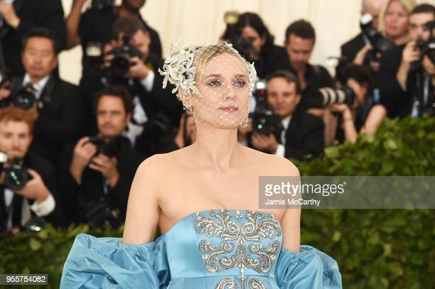 Diane Kruger attends the Heavenly Bodies Fashion The Catholic Imagination Costume Institute Gala at The Metropolitan Museum of Art on May 7 2018 in...