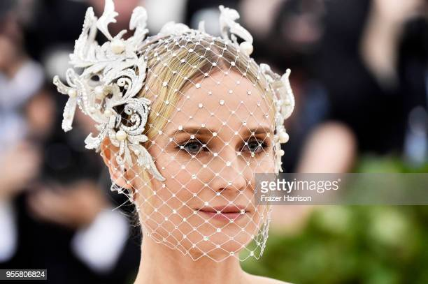 Diane Kruger attends the Heavenly Bodies: Fashion & The Catholic Imagination Costume Institute Gala at The Metropolitan Museum of Art on May 7, 2018...
