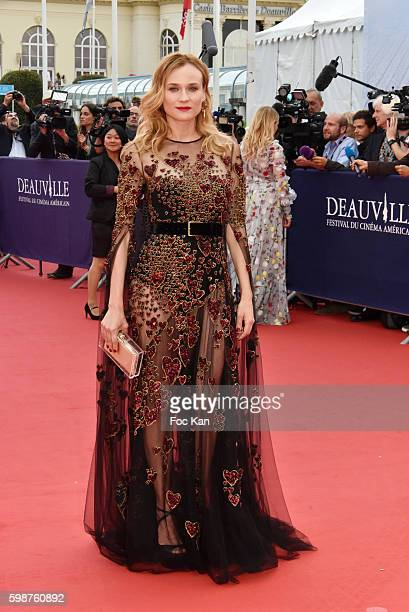 Diane Kruger attends the 'Infiltrator' Deauville Premiere as part of 42nd Deauville American Film Festival Opening Ceremony at the CID on September 2...