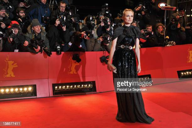 Diane Kruger attends the 'Les Adieux De La Reine' Premiere during day one of the 62nd Berlin International Film Festival at the Berlinale Palast on...