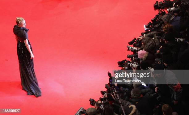 """Diane Kruger attends the """"Les Adieux De La Reine"""" Premiere during day one of the 62nd Berlin International Film Festival at the Berlinale Palast on..."""