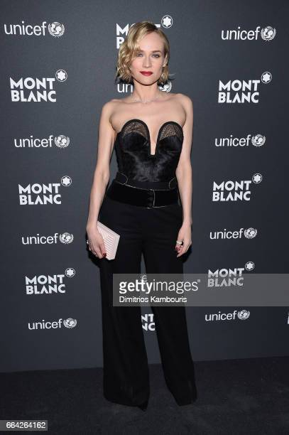Diane Kruger attends the Montblanc UNICEF Gala Dinner at the New York Public Library on April 3 2017 in New York City