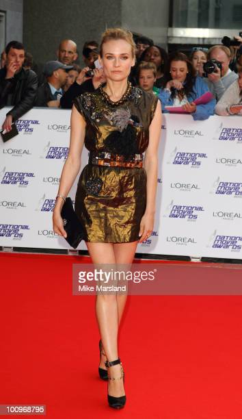 Diane Kruger attends the National Movie Awards 2010' at the Royal Festival Hall on on May 26, 2010 in London, England.