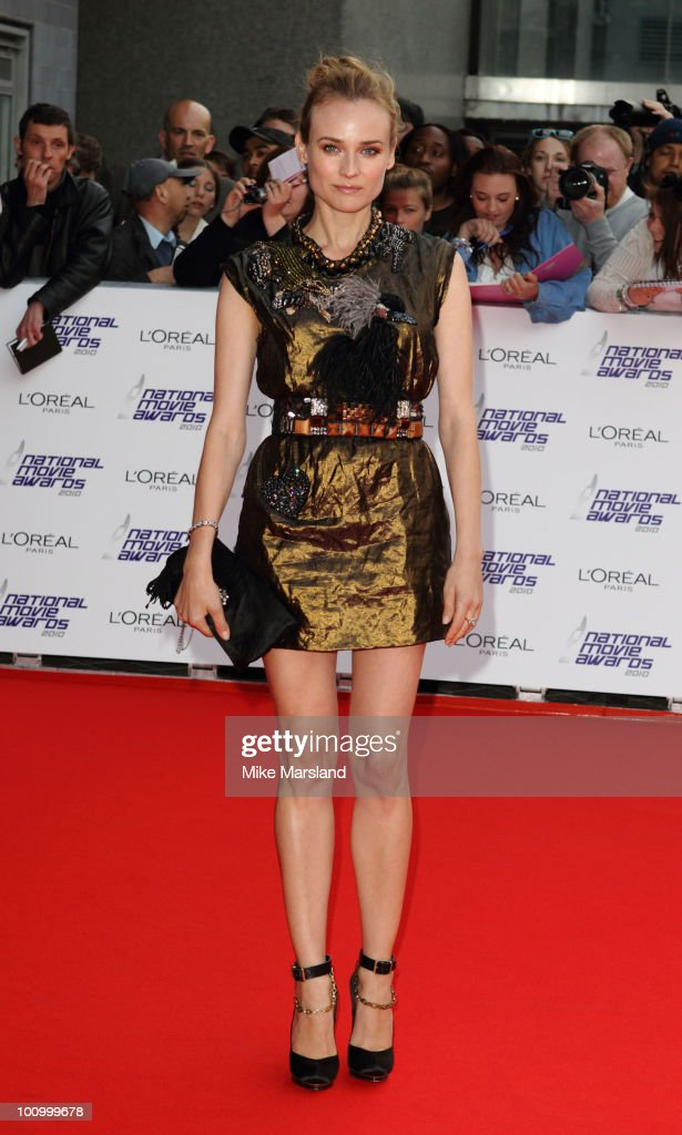 Diane Kruger attends the National Movie Awards 2010 at the Royal Festival Hall on May 26, 2010 in London, England.