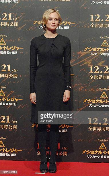 Diane Kruger attends the 'National Treasure' Japan premiere photocall at the Park Hyatt Hotel on December 5 2007 in Tokyo Japan The film will be...