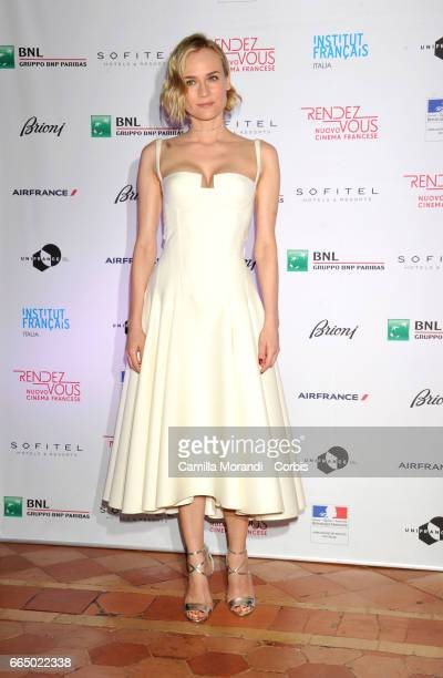 Diane Kruger attends the 'RendezVous Nouveau Cinema Francais' Opening Ceremony In Romeon April 5 2017 in Rome Italy