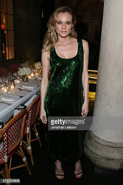 Diane Kruger attends the REPOSSI Los Angeles Dinner at Chateau Marmont on February 17 2016 in Los Angeles California