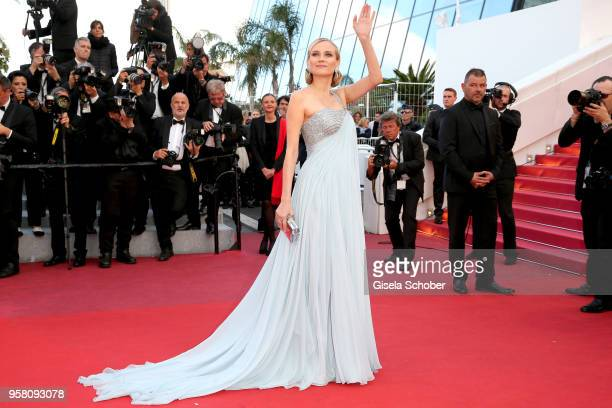 Diane Kruger attends the screening of 'Sink Or Swim ' during the 71st annual Cannes Film Festival at Palais des Festivals on May 13 2018 in Cannes...