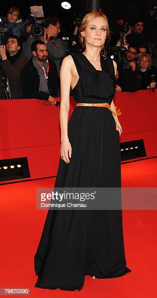 Diane Kruger attends the Shine A Light premiere during day one of the 58th Berlinale International Film Festival held at the Grand Hyatt Hotel on...
