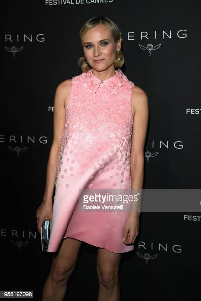 Diane Kruger attends the Women in Motion Awards Dinner presented by Kering and the 71th Cannes Film Festival at Place de la Castre on May 13 2018 in...