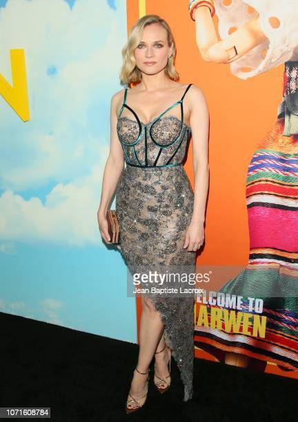 Diane Kruger attends Universal Pictures and DreamWorks Pictures' premiere of 'Welcome To Marwen' at ArcLight Hollywood on December 10, 2018 in...