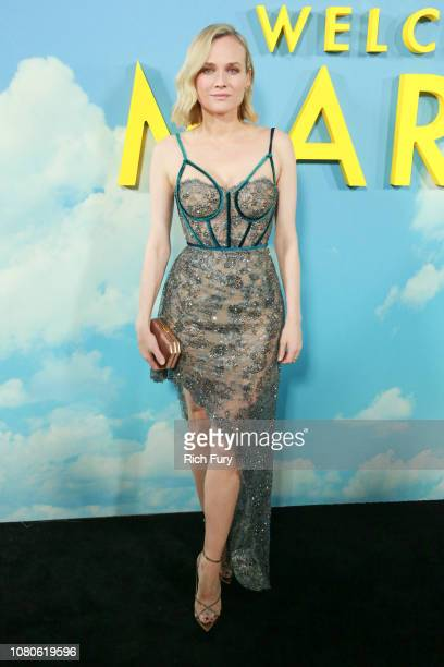 Diane Kruger attends Universal Pictures and DreamWorks Pictures' premiere of 'Welcome To Marwen' at ArcLight Hollywood on December 10 2018 in...