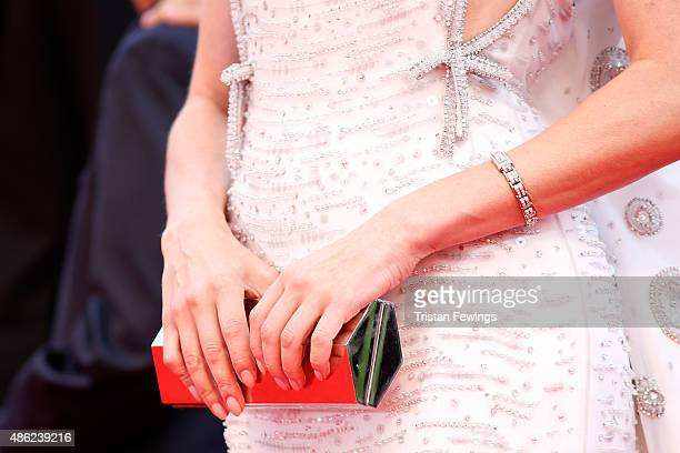 Diane Kruger bag detail attends the opening ceremony and premiere of 'Everest' during the 72nd Venice Film Festival on September 2 2015 in Venice...