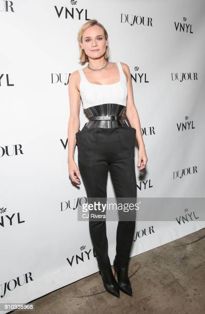 Diane Kruger celebrates her DuJour Magazine cover at The Vnyl on January 25 2018 in New York City