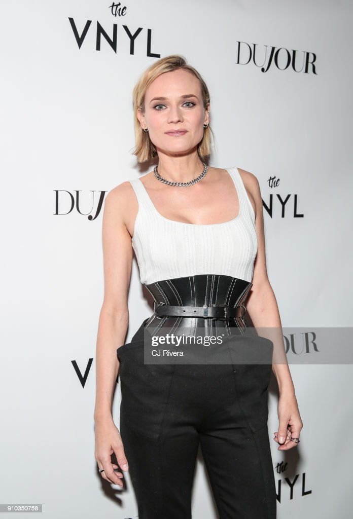 Diane Kruger celebrates her DuJour Magazine cover at The Vnyl on January 25, 2018 in New York City.