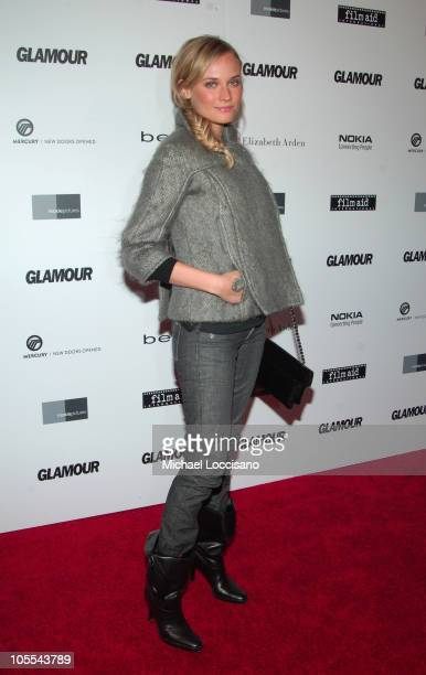 Diane Kruger during Glamour 'Reel Moments' Short Film Series World Premiere at US Union Square Stadium 14 in New York City New York United States