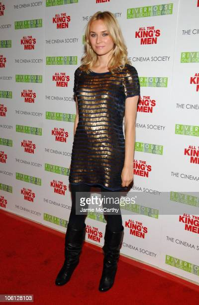 """Diane Kruger during The Cinema Society Screening of """"All the King's Men"""" - Arrivals at Regal Cinema Battery Park in New York City, New York, United..."""