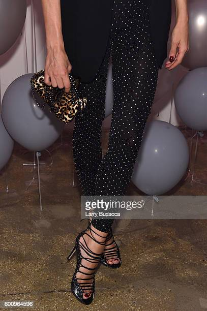 Diane Kruger fashion detail attends the Jimmy Choo 20th Anniversary Event during New York Fashion Week on September 8 2016 in New York City