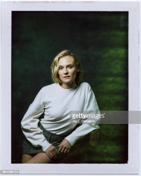Diane Kruger from the film 'In the Fade' is photographed on polaroid film at the LA Times HQ at the 42nd Toronto International Film Festival in...