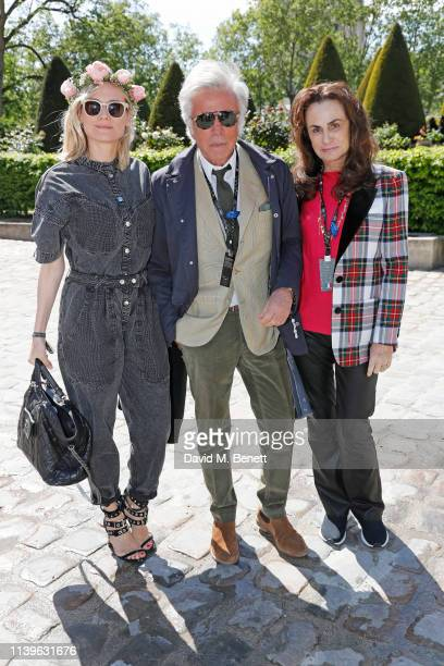 Diane Kruger Giancarlo Giammetti and Georgina Brandolini d'Adda attend attends the ABB FIA Formula E Paris EPrix 2019 on April 27 2019 in Paris France