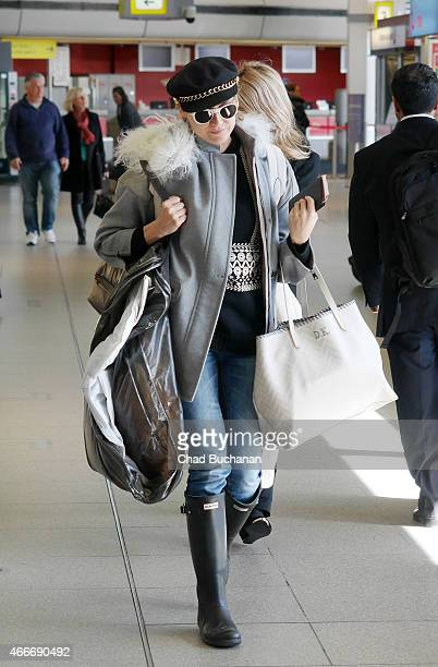 Diane Kruger is seen at Tegel Airport on March 18 2015 in Berlin Germany