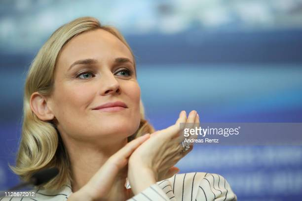 "Diane Kruger is seen at the ""The Operative"" press conference during the 69th Berlinale International Film Festival Berlin at Grand Hyatt Hotel on..."