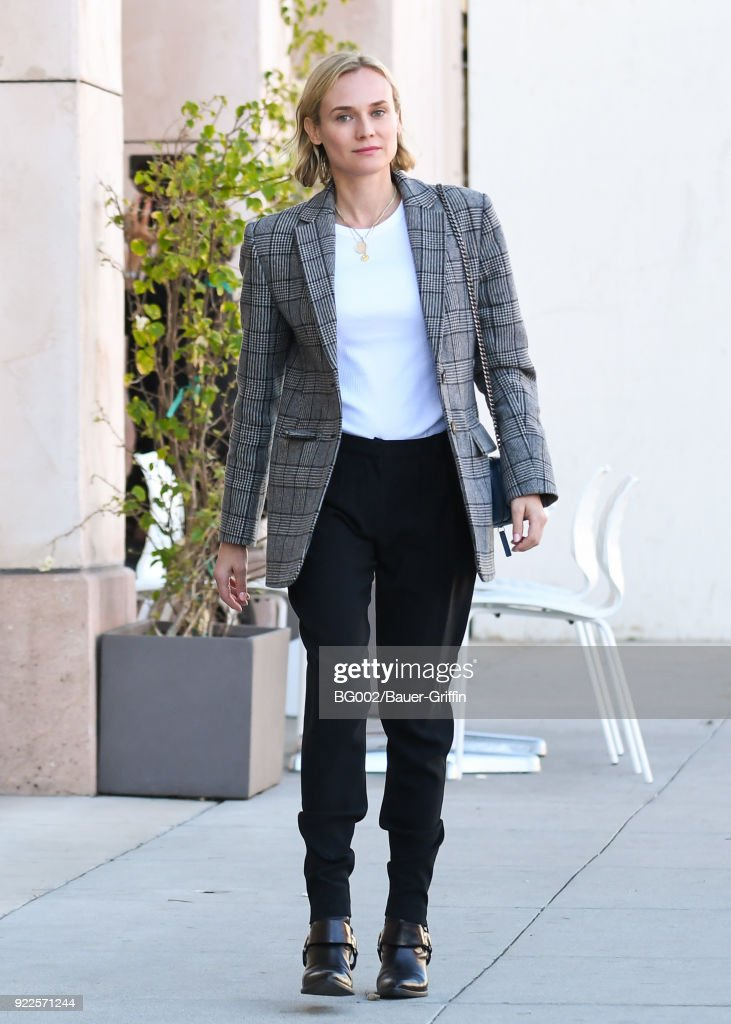 Diane Kruger is seen on February 21, 2018 in Los Angeles, California.