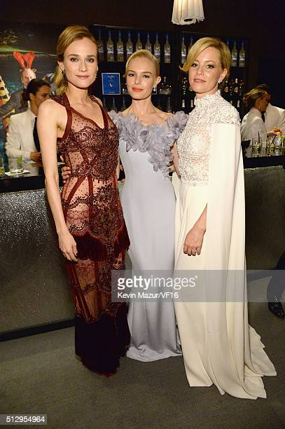 Diane Kruger, Kate Bosworth and Elizabeth Banks attend the 2016 Vanity Fair Oscar Party Hosted By Graydon Carter at the Wallis Annenberg Center for...