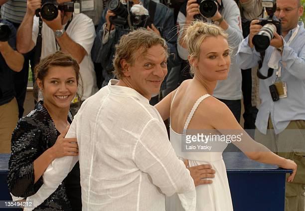 Diane Kruger Marc Labreche and Emma De Caunes during 2007 Cannes Film Festival l'Age des Tenebres Photocall Departures at Palais des Festivals in...