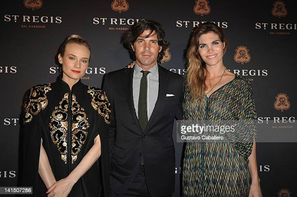 Diane Kruger Nacho Figueras and Delfina Blaquier arrive at the grand opening celebration to debut The St Regis Bal Harbour Resort on March 17 2012 in...