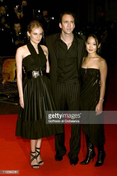 Diane Kruger Nicolas Cage and Alice Kim during 'National Treasure' London Premiere at Odeon West End in London United Kingdom