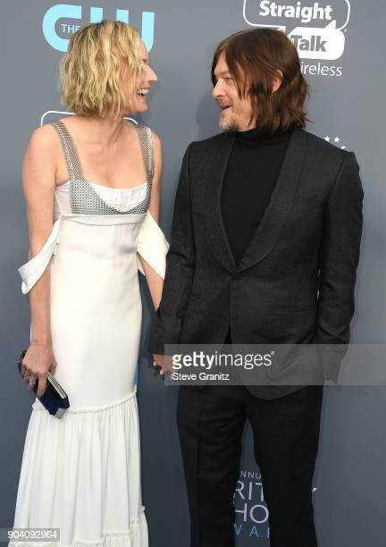 Diane Kruger Norman Reedus arrives at the The 23rd Annual Critics' Choice Awards at Barker Hangar on January 11 2018 in Santa Monica California