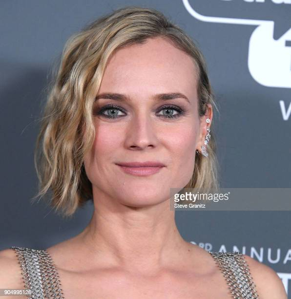 Diane Kruger poses at the The 23rd Annual Critics' Choice Awards at Barker Hangar on January 11 2018 in Santa Monica California