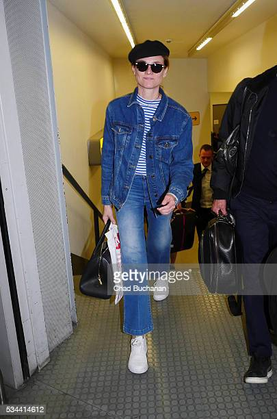 Diane Kruger sighted arriving at Tegel Airport on May 26 2016 in Berlin Germany