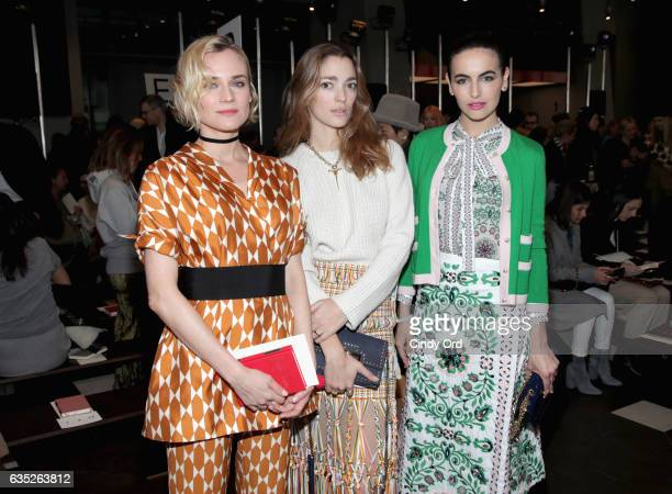 Diane Kruger Sofia Sanchez and Camilla Belle attend the Tory Burch FW17 Show during New York Fashion Week at the Whitney Museum of American Art on...