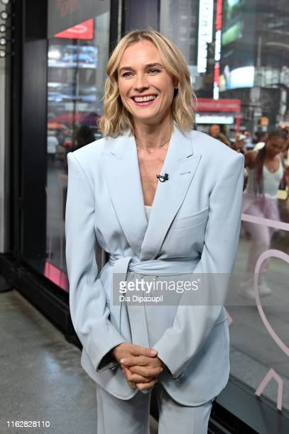 "Diane Kruger visits ""Extra"" at The Levi's Store Times Square on July 18, 2019 in New York City."