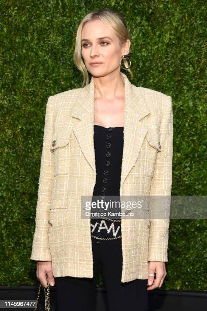 Diane Kruger, wearing CHANEL, attends as CHANEL hosts 14th Annual Tribeca Film Festival Artists Dinner at Balthazar on April 29, 2019 in New York...