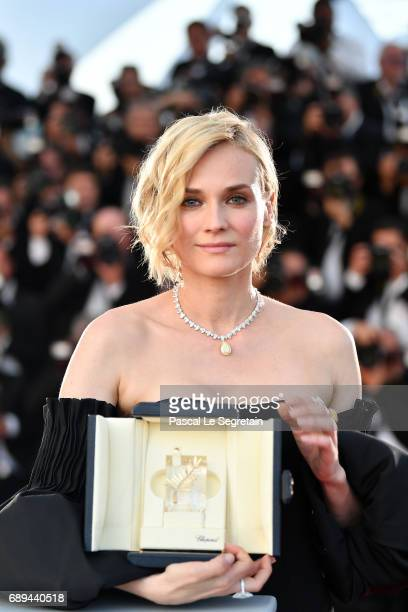 "Diane Kruger winner of the award for best actress for her part in the movie ""In The Fade"" attends the Palme D'Or winner photocall during the 70th..."