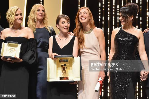 Diane Kruger winner of the award for best actress for her part in the movie 'In The Fade' President of the Camera d'Or jury Sandrine Kiberlain Leonor...