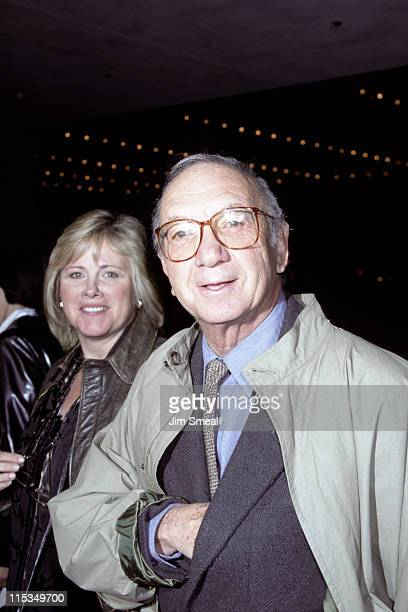 Diane Lander and Neil Simon during Premiere of Wag The Dog at Cineplex Odeon Cinema in Century City California United States