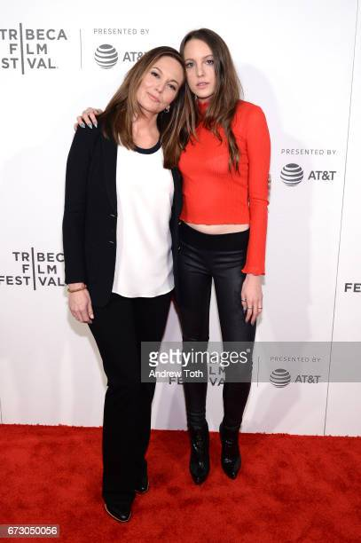 Diane Lane and daughter Eleanor Lambert attend the Paris Can Wait premiere during the 2017 Tribeca Film Festival at BMCC Tribeca PAC on April 25 2017...