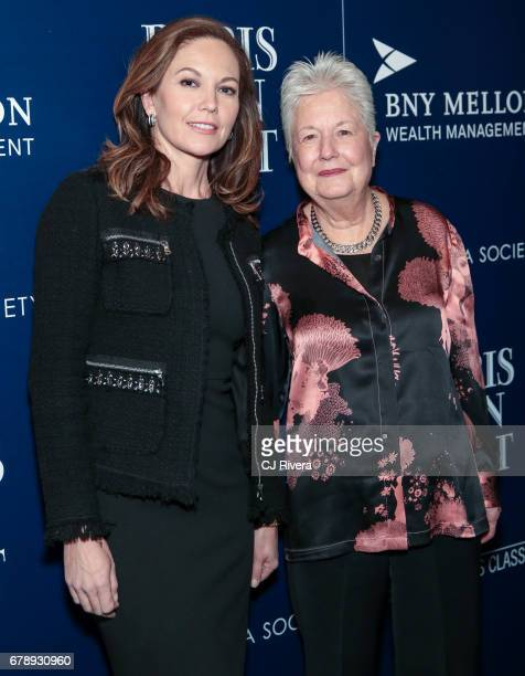 Diane Lane and director Eleanor Coppola attend The Cinema Society screening of Sony Pictures Classics' 'Paris Can Wait' at Landmark Sunshine Cinema...